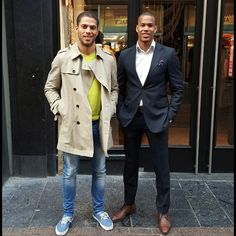 Gonna miss u bro, see you soon!  #Brothers #inarms #dandy #dapper & #highly #capable #suit #trenchcoat #making #momma #proud #since #dayone #ishablaaker