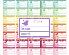 Cruise Planner Stickers Printable Travel Planner Stickers Cruise stickers Ship Travel sticker Erin Condren World Trip Stickers Happy Planner by EnjoyPlanning on Etsy