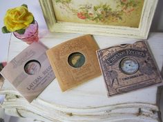 Gramophone Record 1915 Kit for Dollhouse by alavenderdilly on Etsy, $5.00