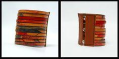 Leather bracelet designed and handmade by Jaanika Aadamsoo.