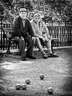 The Boules Match / Brive La Gaillarde - France Canvas Print / Canvas Art by…