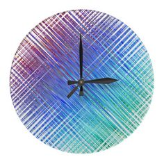 Unique and colorful abstract art wall decor clock in a modern design that let's you decorate your walls with personality and style. You won't find this in any retail store, this is my own creation designed for you! Colorful Abstract Art, Wall Clock Design, Wall Clocks, Wall Art Decor, Modern Design, Personality, Walls, Retail, Store