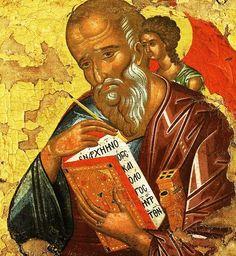Apostle John the Theologian (XVc) Icon - Byzantine Icons, Byzantine Art, Religious Icons, Religious Art, St John The Evangelist, Russian Icons, Religious Paintings, Best Icons, Catholic Saints