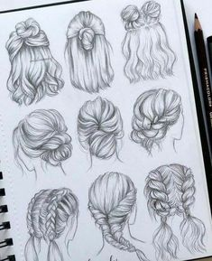 best cute drawings, anime drawings, flower drawing of techniques, great examples of drawing tutorial. Cool Art Drawings, Pencil Art Drawings, Art Drawings Sketches, Drawings Of Hair, Emoji Drawings, Drawing Techniques, Drawing Tips, Drawing Ideas, Drawing Drawing