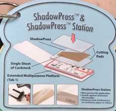 04 Sizzix Tips of 13 ShadowPress & ShadowPress Station Card Making Tips, Card Making Tutorials, Card Making Techniques, Making Ideas, Embossing Techniques, Craft Punches, Embossed Cards, Paper Cards, Cool Cards