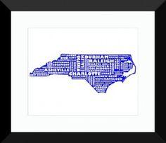 North Carolina Print - MapMyState.com