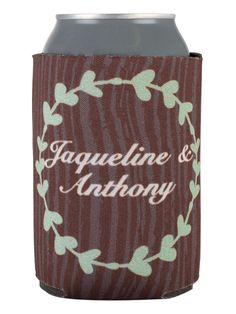 TWC-5011 - Full Color Collapsible Wedding Can Coolers #wedding