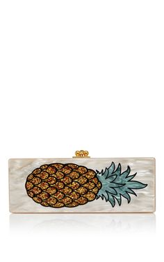 Inspired by the socialite heyday of the and this acrylic **Edie Parker** clutch embodies mid-century glamour. Pineapple Delight, Pineapple Punch, Small Handbags, Tote Handbags, Tote Purse, Clutch Bag, Edie Parker Clutch, Pineapple Coconut, Pretty Shoes