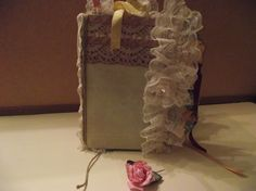 Handmade Scrapbook Journal  Ruffle Lace Vintage  Design by mslizz, $30.00