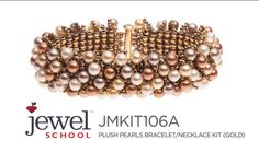 Plush Pearls Bracelet Kit with Jill Wiseman--Need: 6/0 seed beads, 6mm pearls, 11/0 seed beads, 3 strand slide clasp, 6 lb fireline.