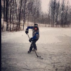 Playing hockey out on the pond, every hockey player loves this feeling and remembers these days