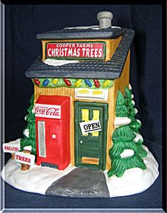 Coca Cola Town Square Coopers Farms Christmas Trees 1996 Collection 56270