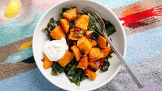 Coconut-Roasted Sweet Potatoes and Collard Greens   Bon Appetit Recipe