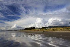 Waikanae Beach by Elyse Childs, new zealand New Zealand Beach, New Zealand North, The Beautiful Country, Beautiful Places, Beautiful Pictures, New Zealand Landscape, Kiwiana, British Isles, Capital City