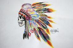 Image via We Heart It #art #artist #artistic #color #colorful #colors #create #death #destruction #draw #drawing #feathers #genocide #headdress #hipster #ignorance #indian #indie #nativeamerican #paint #racist #skull #skulls #stereotype #trendy #cretive #nottrendy #myancestors #assholewhiteppl #fetishizing