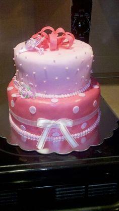 Pink baby shower cake