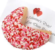 Heart Sprinkles Giant Fortune Cookie with Dark Chocolate - Fresh Beautiful Flowers, Plants and Gourmet Gifts