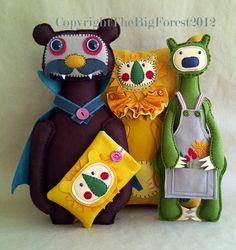 The Big Forest's felt creatures (faces and costumes)
