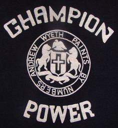 Vintage 80s Champion Power Andrew Wyeth by vintageteesonline, $24.99