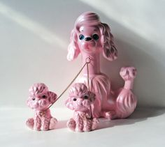Poodle Mother & Pups Chain Figurine Pearlized by KanariKouture, $33.00