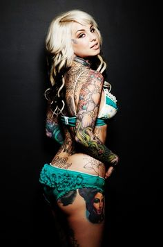 She is beautiful #Hot #Tattoo #Girl