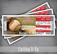 Custom Photo Baseball Wedding Tickets For Invitations 100 Tickets