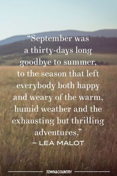 25+ Quotes About the Last Days of Summer