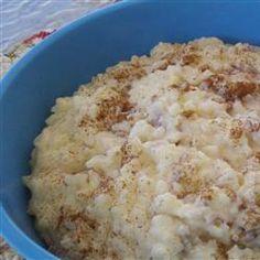 Creamy Rice Pudding....5-star recipe****..read comments ~ Allrecipes.com