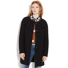 Houndstooth gallery hop coat by Madewell.