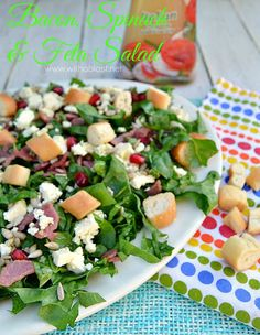 Bacon Spinach and Feta Salad Recipe | Yummly