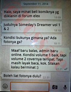 Chat awal dari transaksi yang terjadi pada periode ketiga September 2014