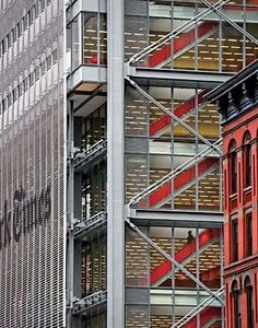 The New York Times Building Sunscreen - Shildan Terracotta Rainscreen Facade New York Times, Ny Times, Renzo Piano, High Building, Building Design, Building Skin, Contemporary Architecture, Architecture Details, Industrial Architecture