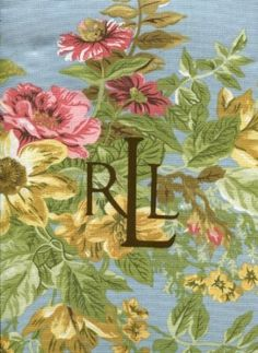 Ralph Lauren Brittany floral blue tablecloth 60 x 104 inches