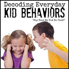 Some of the behaviors kids exhibit can be downright baffling and often frustrating. This might help some parents