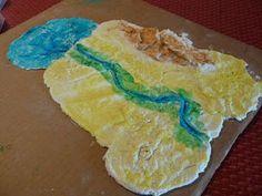 Ancient Egypt Salt Dough Map from Wisdom Begun