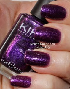 Marias Nail Art and Polish Blog: Kiko 278 Violet Orchid Microglitter swatches