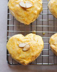 Almond Scones with Grand Marnier Glaze