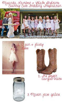 Miranda Lambert & Blake Shelton's Wedding {Country Cute Inspiration} - Storkie Blog