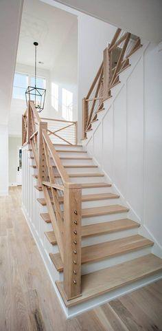 Znalezione obrazy dla zapytania modern farmhouse staircase
