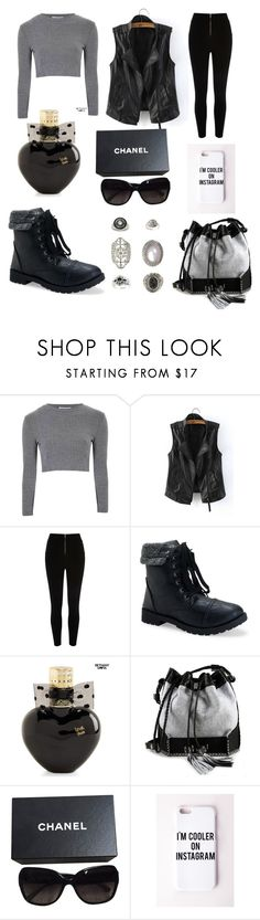 """Untitled #113"" by luckylover0801 ❤ liked on Polyvore featuring Glamorous, Aéropostale, Carianne Moore, Chanel, Missguided and Topshop"