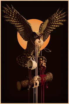 """""""The Owls Are Not What They Seem"""" Twin Peaks-inspired piece by Jay Gordon Draws for Spoke Art's David Lynch tribute show. More art:. Usa Tv Shows, Twin Peaks Poster, Wall Prints, Poster Prints, David Lynch Twin Peaks, Spoke Art, Art Gallery, New York, Owl Art"""