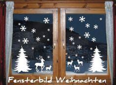 das-label Fensterbild - wintermotiv mix1 - 30 x Schneeflocken | 2 Tannenbäume | 1 Hirsch | 4 Rehkitz Weihnachten Fenstertattoo Wandtattoo Schneeflocken weiß das-label http://www.amazon.de/dp/B00FCD6ENW/ref=cm_sw_r_pi_dp_6E3pwb1T5579N