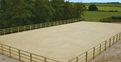 Nice simple horse arena with sound footing and secure fencing.