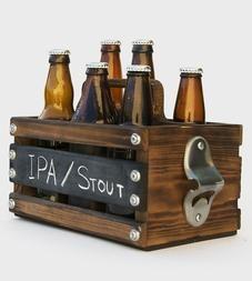 Rustique Bois 6-Pack Bière Porte