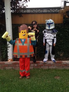 Vincent as Emmit Lego Halloween 2014
