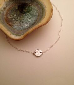 Simple and pretty! Handmade Silver Plated Necklace with Circular Link on Etsy, $14.50