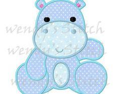 Descargar chica Hippo apliques bordado digital por WendysStitch