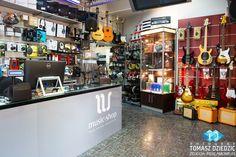 Street View Sklepu Music Shop. Zdjęcia panramiczne Kraków. Business View.