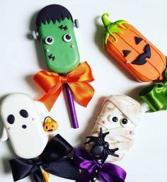 Halloween Cookies, Cute Halloween, Magnum Paleta, Sugar Candy, Ice Cream, Cream Cake, Popsicles, Cake Pops, Bakery Ideas