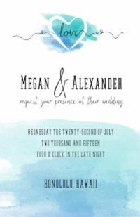 This printout includes invitation, save-the-date, rsvp, monogram, seat-sign, table-number and website all customized for FREE!!!